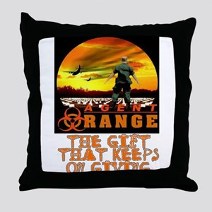 AGENT ORANGE SUNSET Throw Pillow