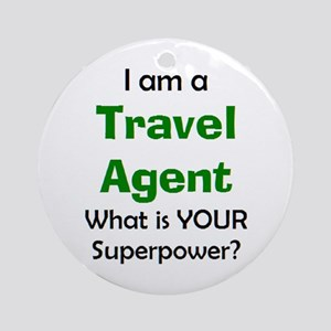 travel agent Round Ornament