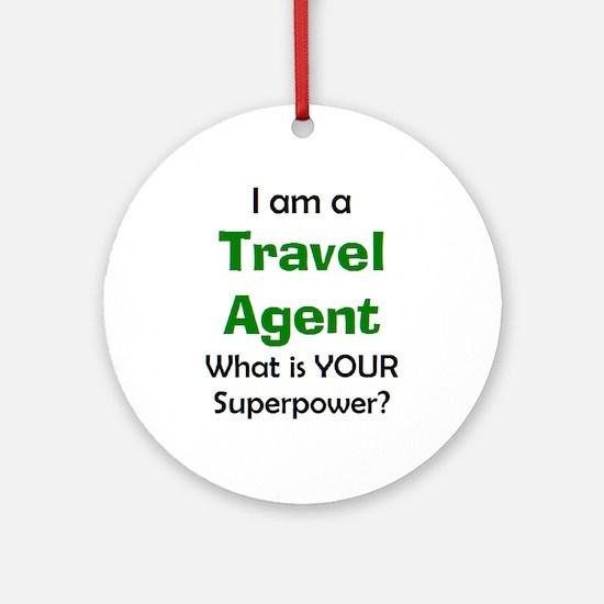 travel agent Round Ornament