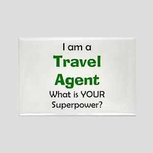 travel agent Rectangle Magnet