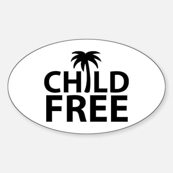 Childfree Sticker (Oval)