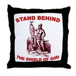 Stand Behind the Shield of Go Throw Pillow