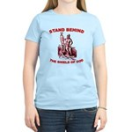 Stand Behind the Shield of Go Women's Light T-Shir