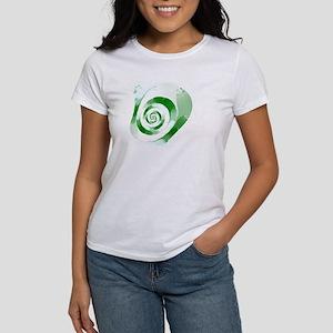 Green Swirl Fractal Women's T-Shirt