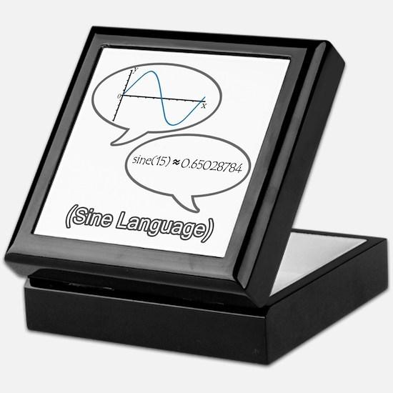Sine Language Keepsake Box