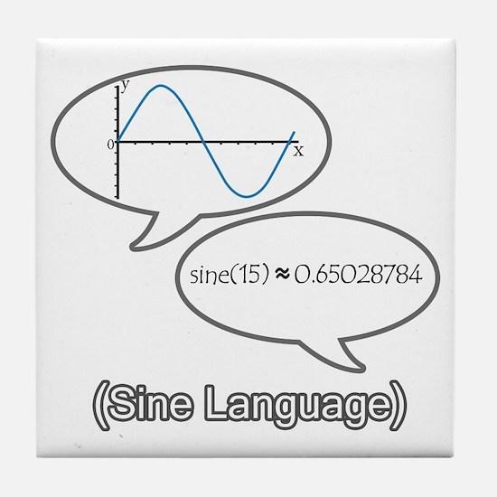 Sine Language Tile Coaster