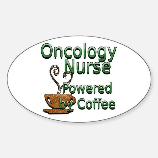 Cute Rn oncology Sticker (Oval)