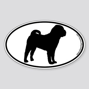 Chinese Shar-Pei SILHOUETTE Oval Sticker