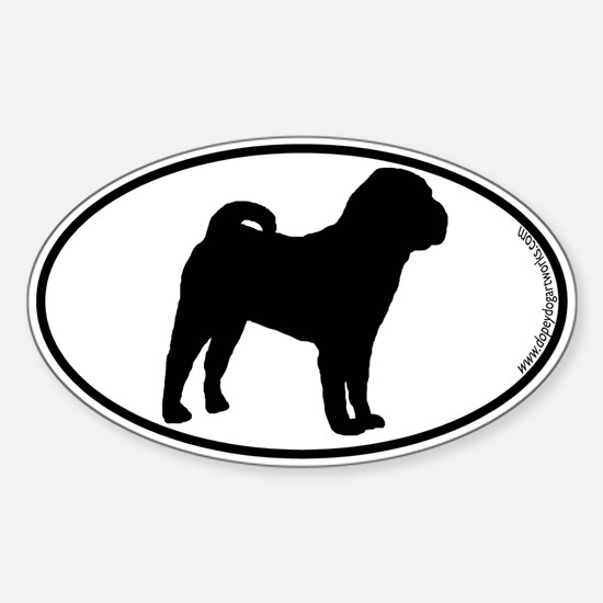 Chinese Shar-Pei SILHOUETTE Oval Decal