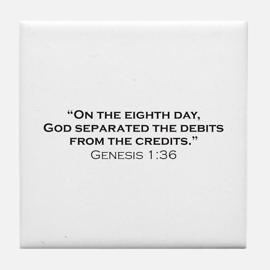 Debits / Genesis Tile Coaster