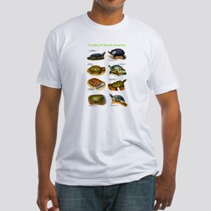 Turtles of North America Fitted T-Shirt