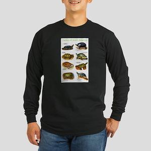 Turtles of North America Long Sleeve Dark T-Shirt
