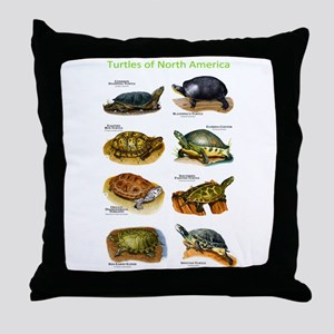 Turtles of North America Throw Pillow