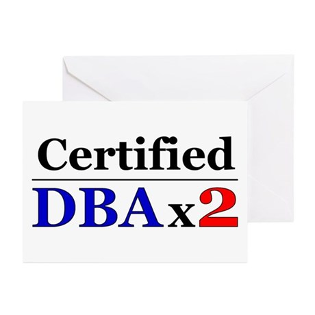 """""""DBAx2"""" Greeting Cards (Pk of 10)"""