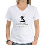 In Memory of a Logger Women's V-Neck T-Shirt