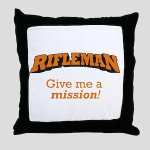 Rifleman - Mission Throw Pillow