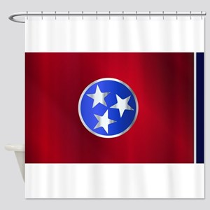 Flag of Tennessee Gloss Shower Curtain