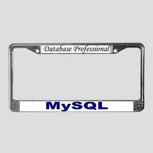 My data: MySQL License Plate Frame
