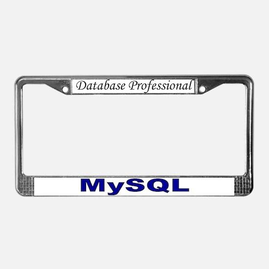 My data: MySQL License Plate Frame