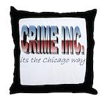 Crime Inc Throw Pillow