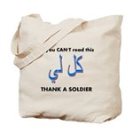 Thank a Soldier Tote Bag