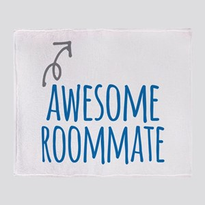 Awesome roommate Throw Blanket