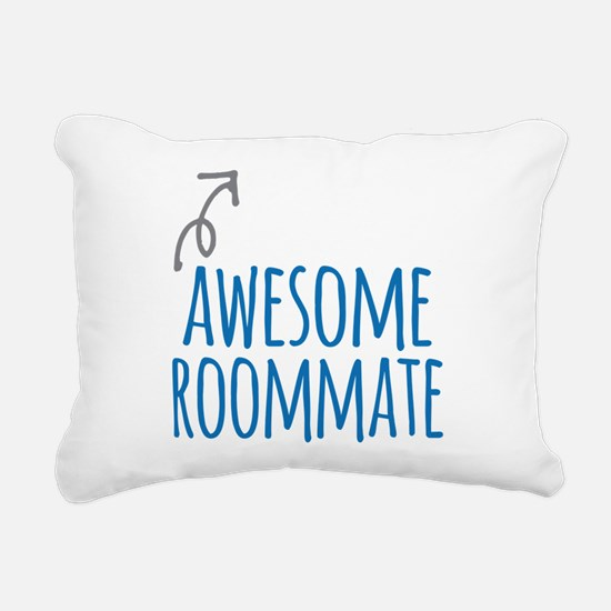 Awesome roommate Rectangular Canvas Pillow