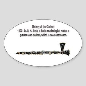 The Quarter-Tone Clarinet Oval Sticker