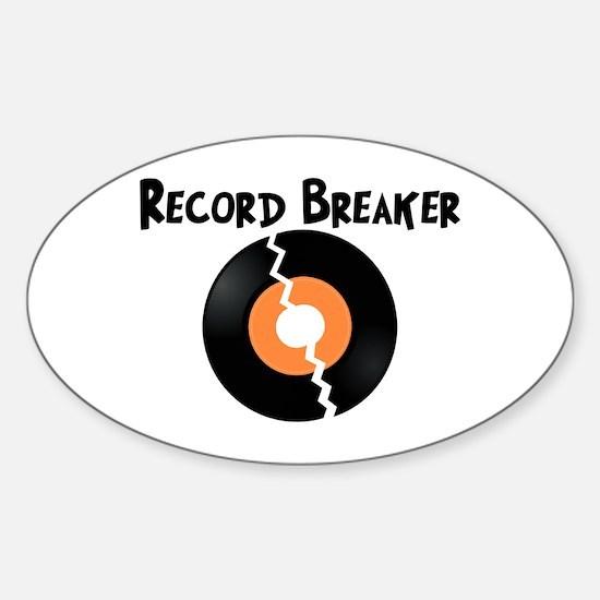 Record Breaker Sticker (Oval)