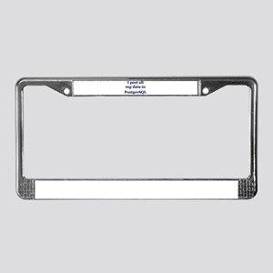 """PostgreSQL"" License Plate Frame"