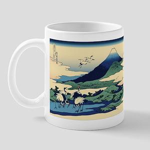 Hokusai Umegawa in Sagami Province Mug
