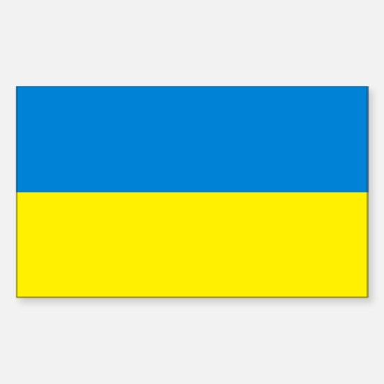 Ukraine Flag Rectangle Decal