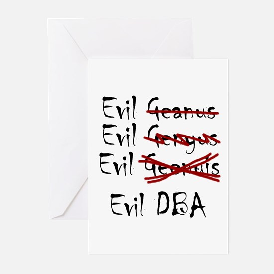 """Evil DBA"" Greeting Cards (Pk of 10)"