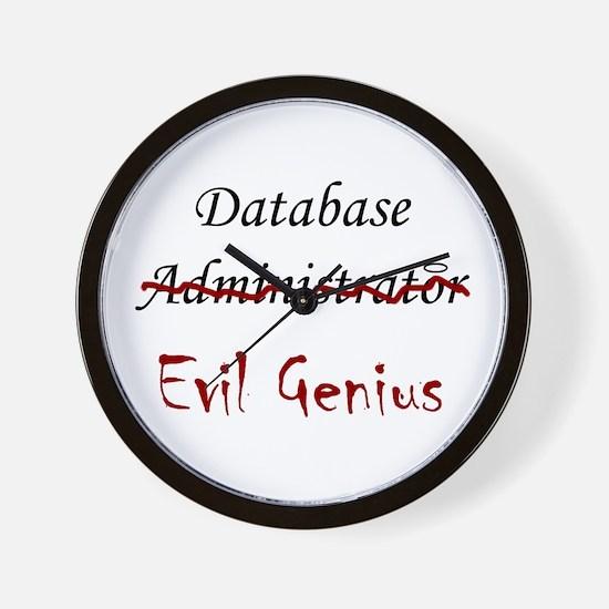 """""""DB Evil Genius"""" Wall Clock"""