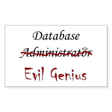 """DB Evil Genius"" Rectangle Sticker"