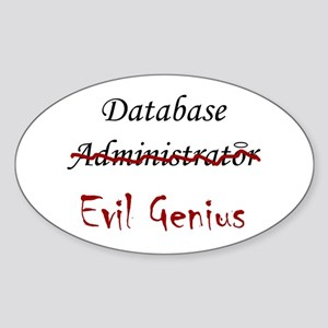 """""""DB Evil Genius"""" Oval Sticker"""