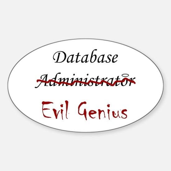 """DB Evil Genius"" Oval Decal"