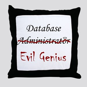 """DB Evil Genius"" Throw Pillow"