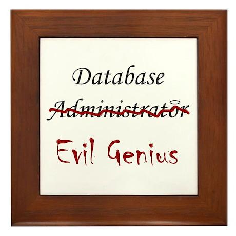 """""""DB Evil Genius"""" Framed Tile"""