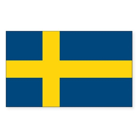 Sweden Flag Rectangle Sticker