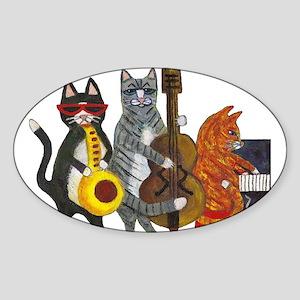 Jazz Cats Sticker (Oval)