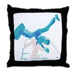 Street Breakdancer Throw Pillow