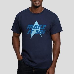 Star Trek: Make It So! Men's Fitted T-Shirt (dark)