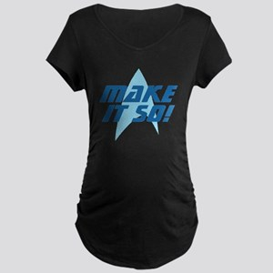 Star Trek: Make It So! Maternity Dark T-Shirt