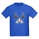 Whitetail deer,tag out Kids Dark T-Shirt