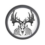 Whitetail deer,tag out Wall Clock