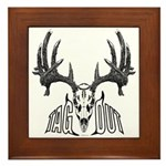 Whitetail deer,tag out Framed Tile