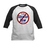 NO Sharia Law in America Kids Baseball Jersey