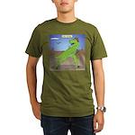 T-Rex Early Football Organic Men's T-Shirt (dark)