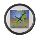 T-Rex Early Football Large Wall Clock